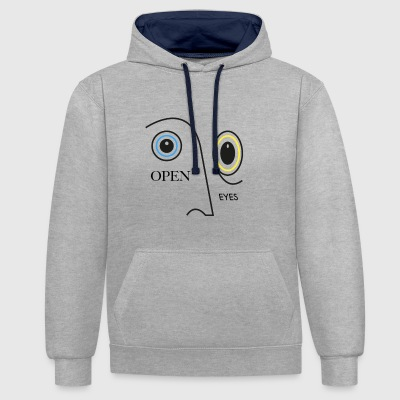 OPEN EYES - Sweat-shirt contraste