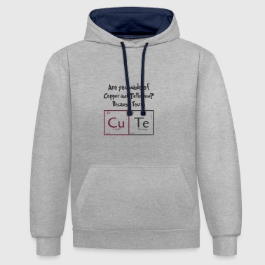 Periodensystem CuTe - Contrast Colour Hoodie