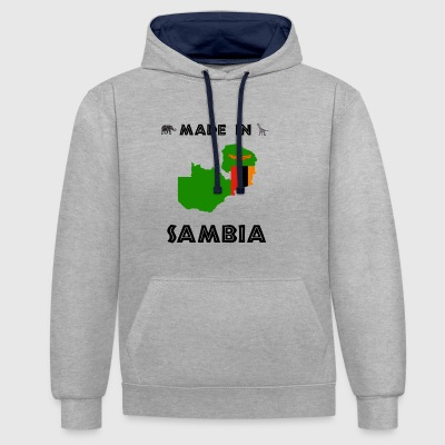AFRIQUE ZAMBIE T-SHIRT - Sweat-shirt contraste