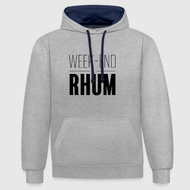 Weekend with rum - Contrast Colour Hoodie