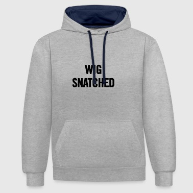 Wig Snatched Black - Contrast Colour Hoodie