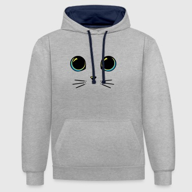 yeux chat - Sweat-shirt contraste