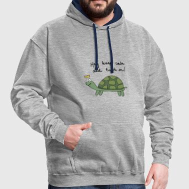 tortue - Sweat-shirt contraste