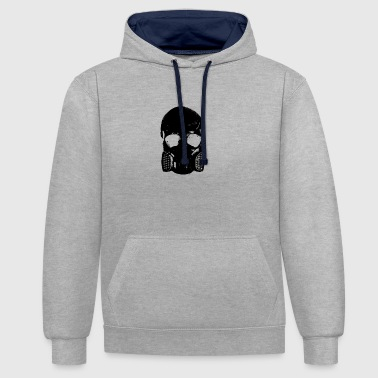 anti gas schedel - Contrast hoodie