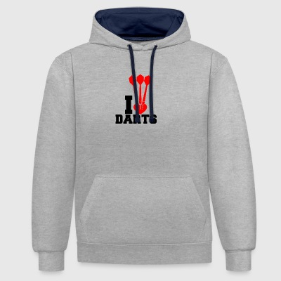 darts - Contrast Colour Hoodie