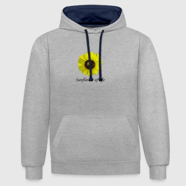 "Sunflower of life ""Sunflower of life"" - Contrast Colour Hoodie"