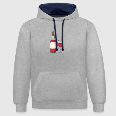 wine - Contrast Colour Hoodie