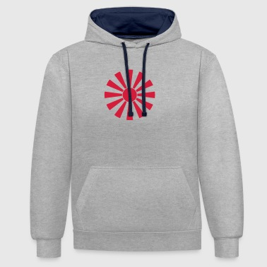 Japanese Coat of Arms 014 - Contrast Colour Hoodie