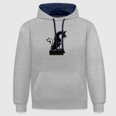 dragon statue - Sweat-shirt contraste