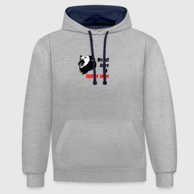 Fighter in US - Kontrast-Hoodie