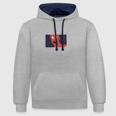 TIMESKULL_1 - Contrast Colour Hoodie