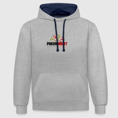 poker - Contrast Colour Hoodie