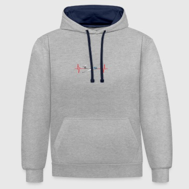 Heart Beat Gliding - Contrast Colour Hoodie