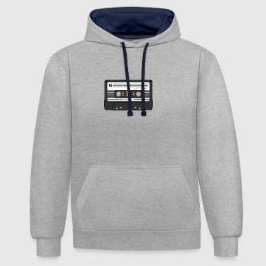 cassette - Contrast hoodie