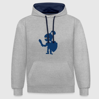 petit chevalier - Sweat-shirt contraste