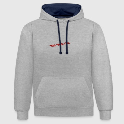 Deep down low - Contrast Colour Hoodie