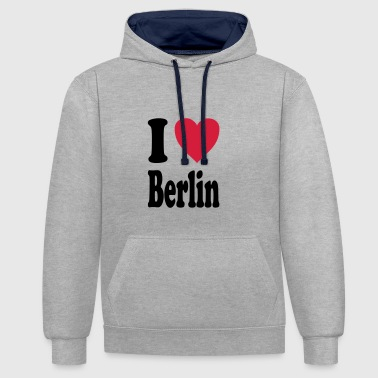 J'adore Berlin - Sweat-shirt contraste