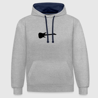 guitar - Contrast Colour Hoodie