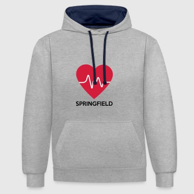 Heart Springfield - Contrast Colour Hoodie