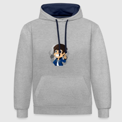 TheZame Minecraft Skin Hand Drawn - Contrast Colour Hoodie