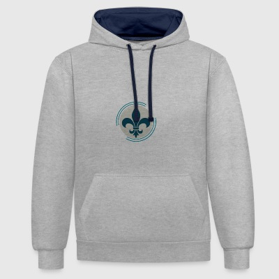 PLF BLASON REVISITED - Contrast Colour Hoodie