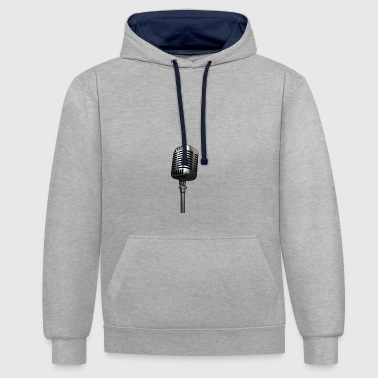 Microphone - Contrast Colour Hoodie