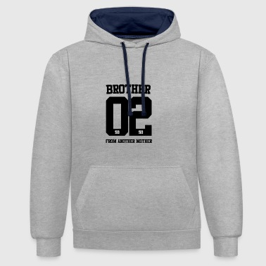 BROTHER FROM ANOTHER MOTHER 02 - Kontrast-Hoodie