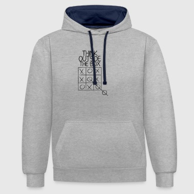 Think outside the box - Contrast Colour Hoodie