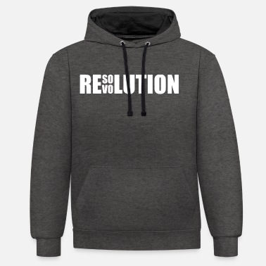 Résolution Résolution / Revolution - Sweat-shirt contraste