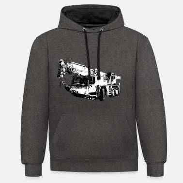 Crane construction machine - Contrast Colour Hoodie