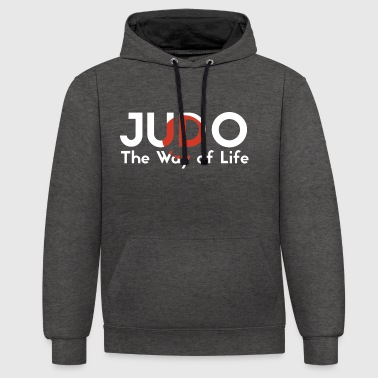 the judo way of life - Contrast Colour Hoodie