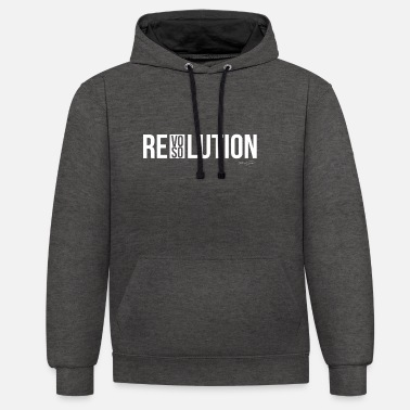 Résolution REVOLUTION ou RESOLUTION - Sweat-shirt contraste