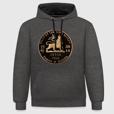 Lion of Judah - Empire of Ethiopia Haile Selassie - Kontrast-Hoodie