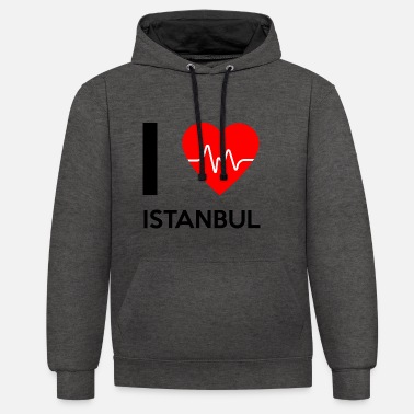 I Love Istanbul I Love Istanbul - I Love Istanbul - Contrast Colour Hoodie