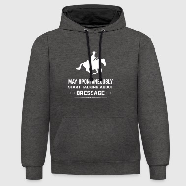 Riding - Riding on a horse - Horse dressage - Contrast Colour Hoodie