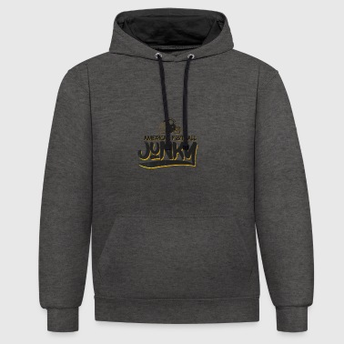 American Football Quarterback Touchdown Crazy - Contrast hoodie