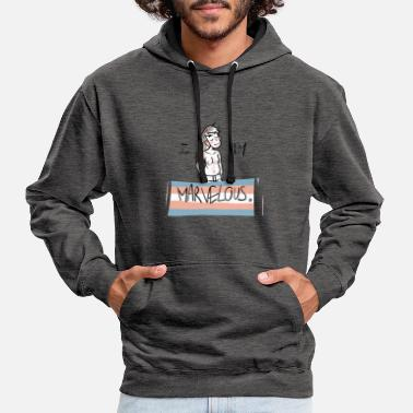 Transgender I am Marvelous (MTF) - Contrast Colour Hoodie