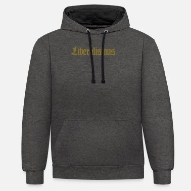 Liberation liberalism - Unisex Contrast Hoodie