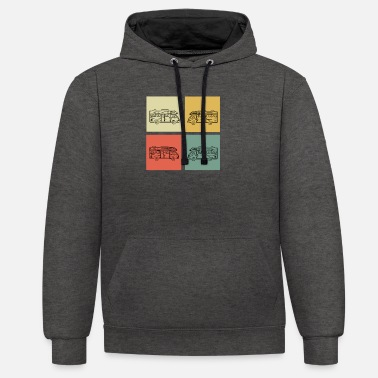 Camping Camping - Unisex Hoodie zweifarbig