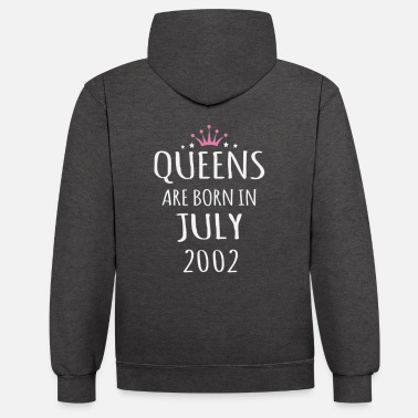 July 2002 July 18th birthday gift - Unisex Contrast Hoodie