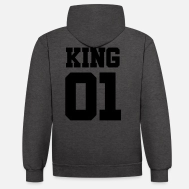 King KING 01-King and Queen (black) - Unisex Contrast Hoodie