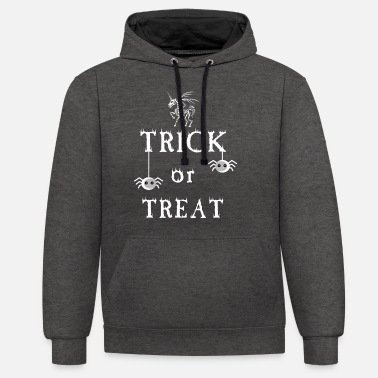 Trick Trick or Treat - trick or treat - Unisex Contrast Hoodie