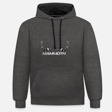 Primal Mammoth Ice Age Primal Gift - Unisex Contrast Hoodie