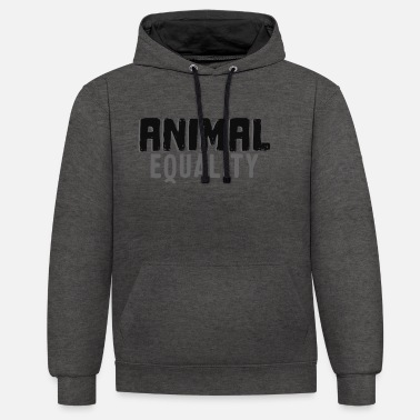 Animal Welfare Animal Equality Vegan - Unisex Contrast Hoodie