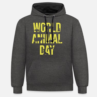 Animal Welfare animal welfare - Unisex Contrast Hoodie