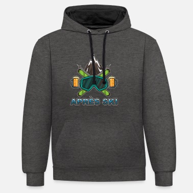 Ski Resort Apres Ski Team - Skiing And Snowboarding - Unisex Contrast Hoodie