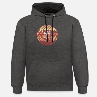 West Coast Swing Palms WCS Westie Dancing - Unisex contrast hoodie