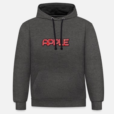 Apples Apple - apple - Unisex Contrast Hoodie