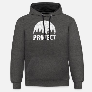 Protection Of The Environment Protect the Environment - Protect our environment! - Unisex Contrast Hoodie