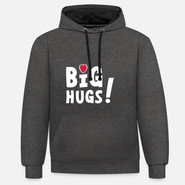 Big hugs with hearts. Embrace, embrace, hearts. - Unisex Contrast Hoodie